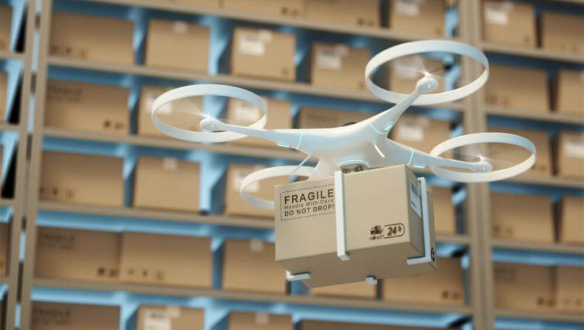 Logistique et inventaire par drone